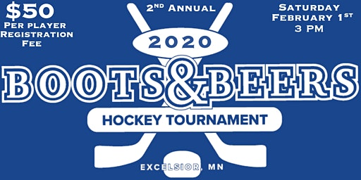 2nd Annual Boots & Beers Hockey Tournament in Memory of Riggins Larson