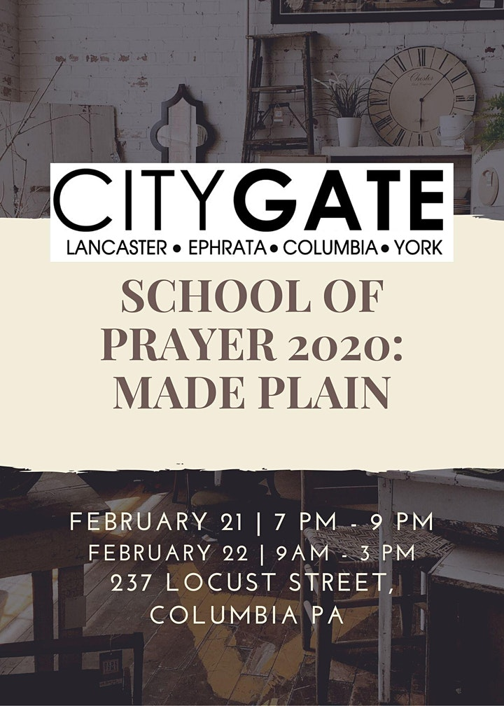 School of Prayer 2020: Made Plain image