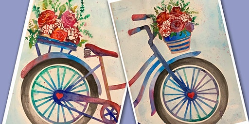 Valentine's Day Bicycle for 2 Paint Party