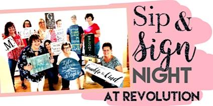 Sign Night at Revolution Tap Room
