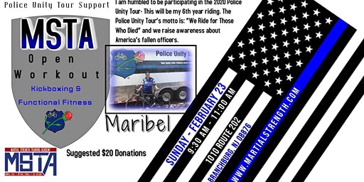 Open Workout Kickboxing - Maribel Police Unity Tour Fundraiser