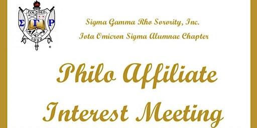 Iota Omicron Sigma Philo Affiliate Interest Meeting