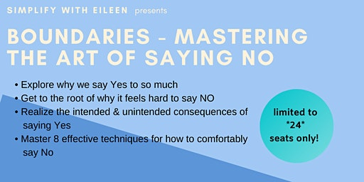 Boundaries- Mastering The Art of Saying NO