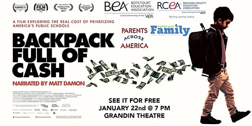 Backpack Full of Cash FREE SCREENING