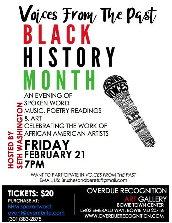 Black History Month Voices From The Past image