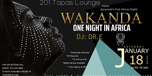 Wakanda African Night at 201