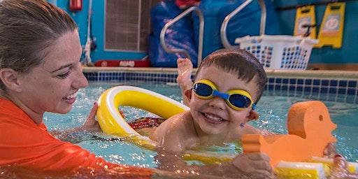 Family Swim at Goldfish Swim School in Burlington with The Oakville Parent