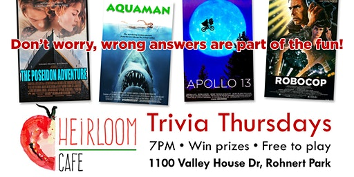 Trivia Nights at Heirloom Cafe