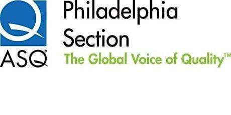 ASQ Philly Section Leadership Committee - monthly meeting  9/9/20 tickets
