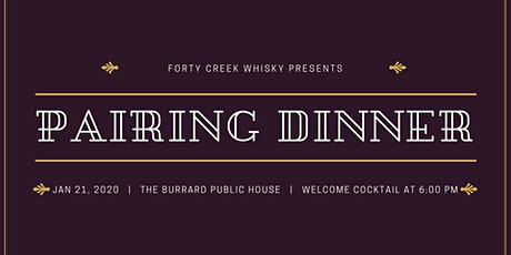 Forty Creek Pairing Dinner tickets