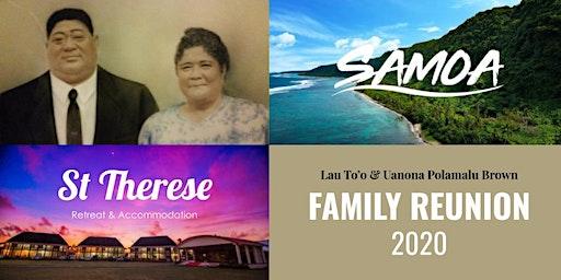 Lau & Uanona To'o Family Reunion