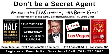 Don't Be A Secret Agent - A Live Brian Ernst Training in Las Vegas tickets