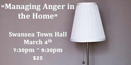 """""""Managing Anger in the Home"""" tickets"""