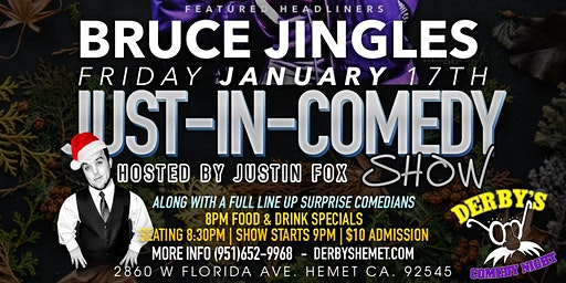 Friday January 17th  Just In Comedy Show