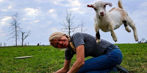 Blue Sky Farm Goat Yoga Class