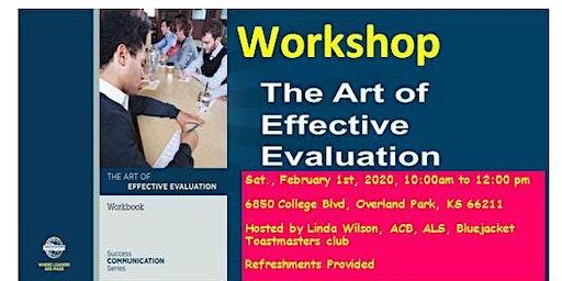 The Art of Effective Evaluation Workshop 02/01/20