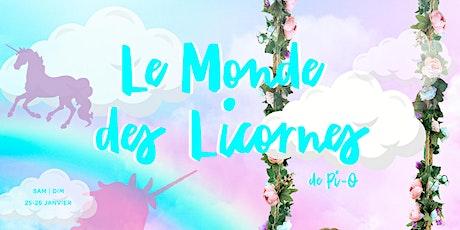 LE MONDE DES LICORNES billets