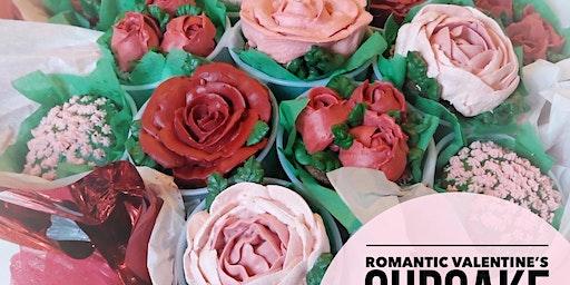 Romantic Valentine's Cupcake Bouquet