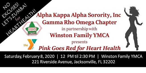 AKA Gamma Rho Omega Chapter 2020 Pink Goes Red for Heart Health