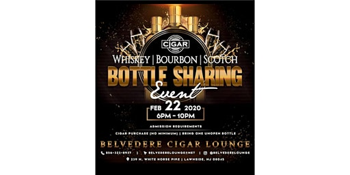 Whiskey Bourbon Scotch Bottle Sharing Event