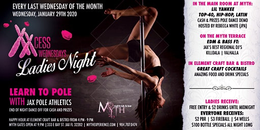 XXCess Wednesdays - Learn To Pole (Ladies Night) At Myth Nightclub   01.29.20