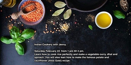 Indian Cookery with Jenny tickets