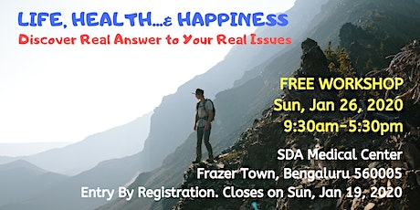 Free Workshop: Life, Health... & Happiness tickets