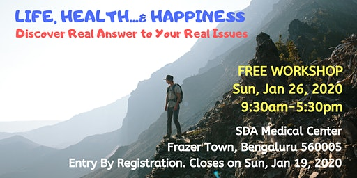 Free Workshop: Life, Health... & Happiness
