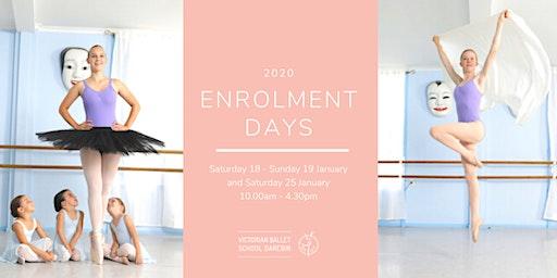 2020 Enrolment Days - Victorian Ballet School Darebin
