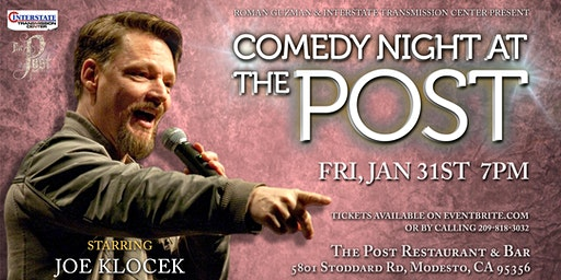 Comedy Night at The Post 2020 Starring Joe Klocek