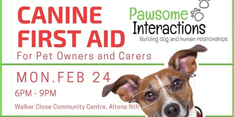 Canine First Aid - February 2020 tickets