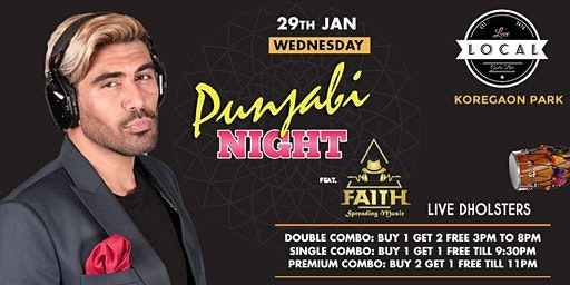 Wednesday Bollywood Punjabi Night - DJ Faith & LIVE Dolsters