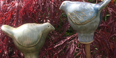Ceramic Garden cane toppers tickets