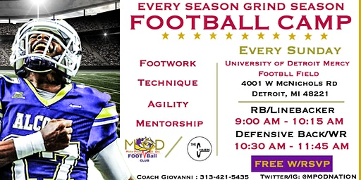 Every Season Grind Season Football Camp Powered by MPOD Football club