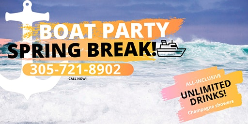 Spring Break Party Boat - Open Bar & Jetski + Party Bus + Nightclub