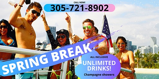 SPRING BREAK Miami Party Boat- Unlimited drinks
