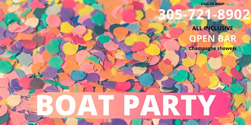 SPRING BREAK Miami Party Boat- Unlimited drinks- Miami Nightlife