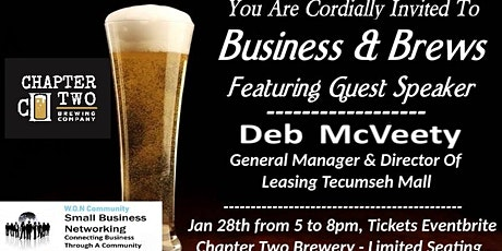 Business & Brews With Speaker Deb McVeety General Manager Tecumseh Mall tickets