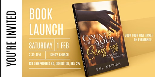 Count Your Blessings Book Launch | Vee Nathan