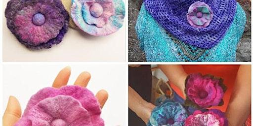 Felt Flower Brooch Workshop with  Aileen Clarke Crafts