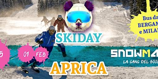 Skiday ad APRICA •skibus da Milano e Bergamo