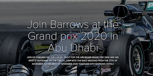 Barrows Hotels Xperience at the Formula 1 Grand Prix 2020 Abu Dhabi