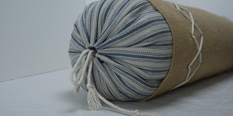Making of a coastal themed hessian daybed bolster cushion tickets