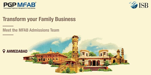 ISB (PGPMFAB)Family Business Coffee Meet at Ahmedabad