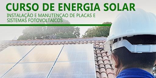Curso Energia Solar - Instalação e Manutenção (20/01/2020 à 23/01/2020)