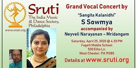 Sangita Kalanidhi S. Sowmya - A Grand Carnatic Music Concert tickets