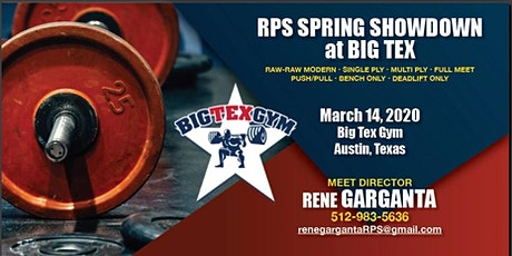 RPS Texas Spring Showdown Powerlifting Competition tickets