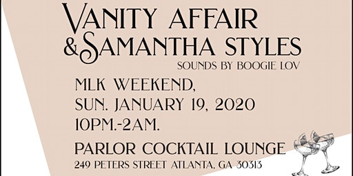 Vanity Affair and Samantha Styles presents MLK Winter PRIDE 2020