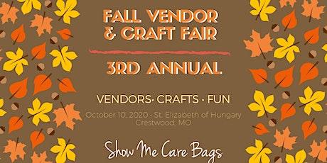 3rd Annual Fall Vendor and Craft Fair tickets