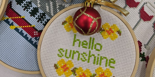 Intro To Cross Stitch Workshop at DVLB in Waterloo
